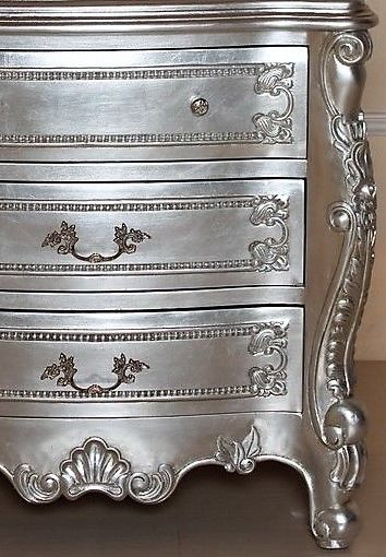 Hermes Rococo Silver Leaf Chest In 2020 Funky Painted Furniture