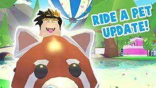 Riding Griffin Pet In Adopt Me Codes 2019 Roblox Adopt Me Ride A Pet Update Roblox My Ride Pets