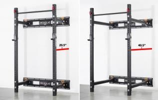 Rogue Rml 3w Fold Back Wall Mount Rack Made In The Usa Rogue Fitness In 2020 Wall Mount Rack Gym Room At Home Wall Mount