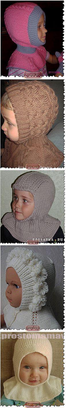 Шапочки-шлемы с манишкой,подборка 12.