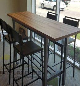 Mebel Besi - Furniture Kombinasi Besi & Kayu | High Top Tables, High Top Table Kitchen, Pub Table Sets