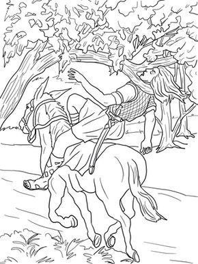 Absaloms Dood Sunday School Coloring Pages Bible Coloring Pages Coloring Pages