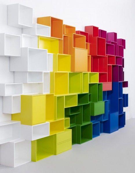 Les étagères Cubit prennent de la couleur - Elle Décoration