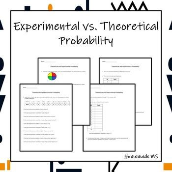 Theoretical Vs Experimental Probability Activity And Worksheets