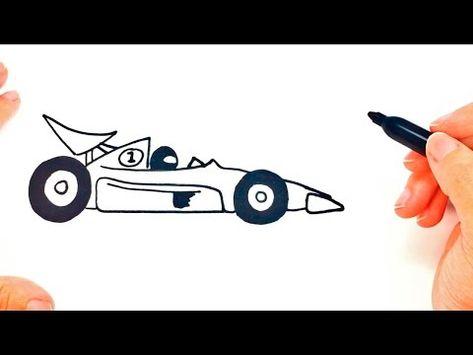 Cómo dibujar un Coche de Carreras paso a paso   Dibujo fácil de ...