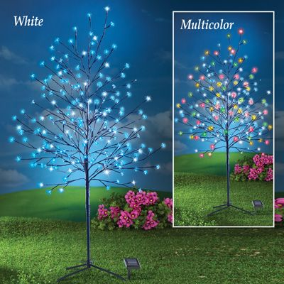 Solar Lighted Cherry Blossom Tree Collections Etc Cherry Blossom Tree Blossom Trees Solar Light Crafts