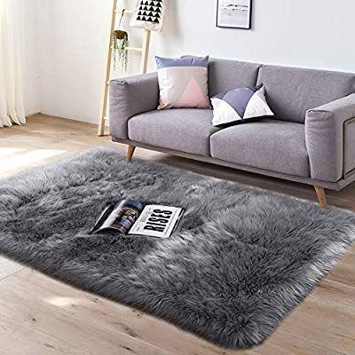 Amazon Com Yj Gwl Super Soft Faux Fur Area Rug 3 X5 For Bedroom Sofa Living Room Fluffy Bedside Rugs Home Bedroom Rug Faux Fur Area Rug Rugs In Living Room