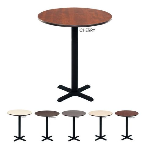 Regency Bar High Lunchroom 30 Inch Round Table Maple