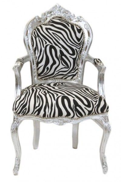 Silber mit Armlehnen Stühle Barock Stühle Esszimmerstühle