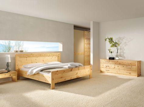 handgefertigte Massivholz Möbel, Zirbenholz, Bett, Schlafzimmer - zirbenholz schlafzimmer modern
