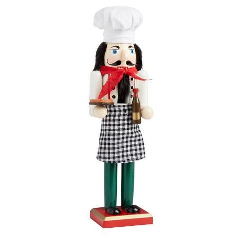 "One of my favorite discoveries at ChristmasTreeShops.com: 15"" Pizza Chef Nutcracker"