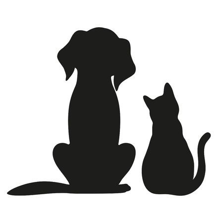 Dog Silhouette Google Search Cat And Dog Tattoo Animal Silhouette Dog Silhouette