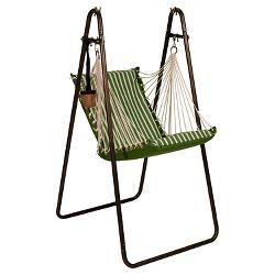 Algoma Sunbrella Soft Comfort Hanging Chair With Stand Shore Regatta Stripe Canvas Regatta Solid Ta Hanging Hammock Chair Hammock Chair Stand Hammock Chair
