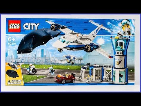 Unboxing Lego 60210 City Sky Police Air Base Construction Toy Youtube
