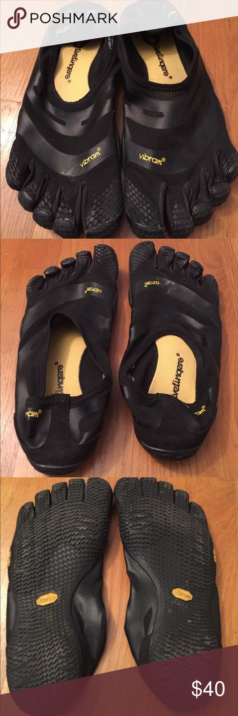 Viral Fivefingers EL-X size 43 Solid black slip on shoe. No adjustable straps, minimalistic design. Worn once, but ultimately not right size. Excellent condition Vibram Shoes Athletic Shoes