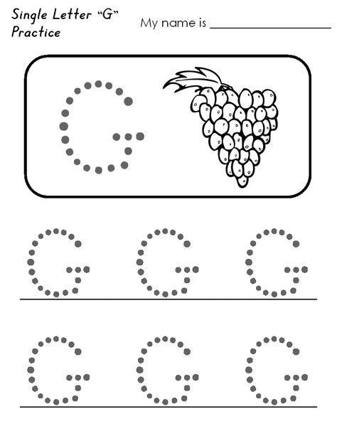 Letter G Worksheets For Preschool Free Printable Tracing ...