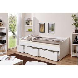 Einzelbett Lochlan Mit Schubladen 90 X 200 Cm In 2020 Bett