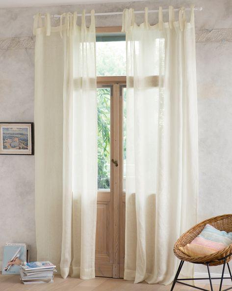 Leinenvorhang Antikweiss Vorhange Wohnzimmer Coole Vorhange Und