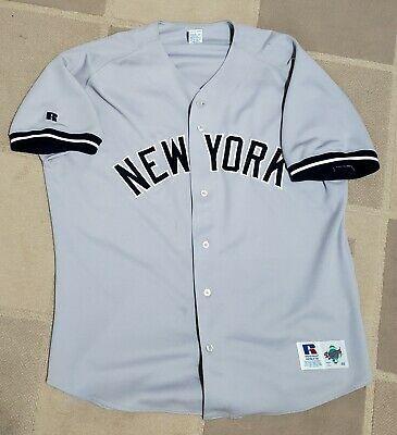 Paul O Neill New York Yankees Authentic Russell Grey Away Baseball Jersey Sz 48 Yankeespinstripes Yan New York Yankees Baseball Jersey Shirt Baseball Jerseys