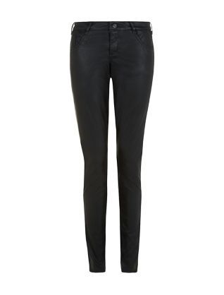 Up there with the LBD: a pair of Black Leather-Look Skinny Jeans. Your party wardrobe needs them. #newlook #fashion