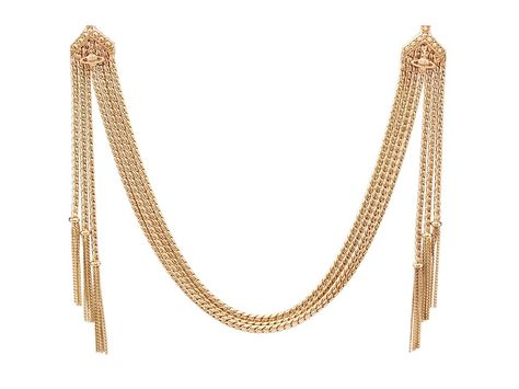 Gold necklace with retro glam appeal