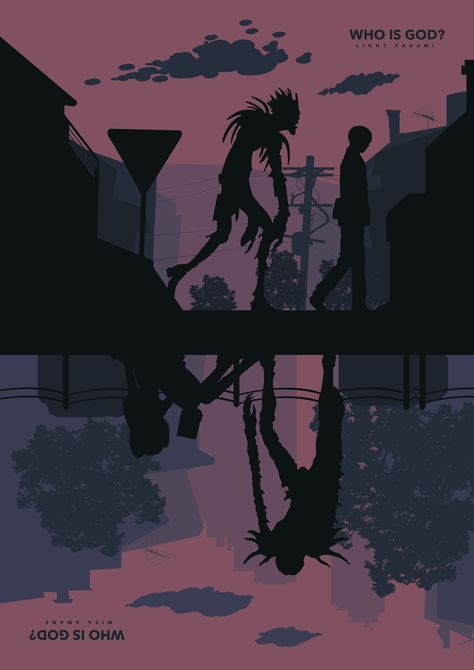 Death Note A3 A4 Digital Poster minimalist Shinigami Print Series Tv Netflix anime manga Movie