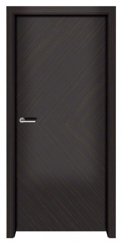 Dark Ebony Macassar Flush Door Design Bedroom Door Design Doors Interior Modern