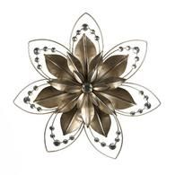 Gold Metal Flower Wall Art Jewels