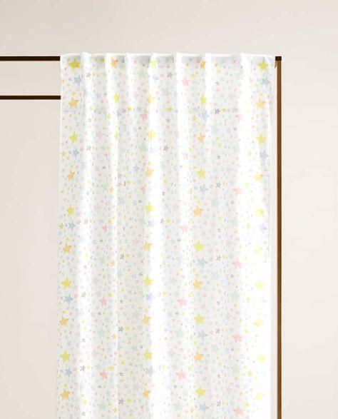 rideau coton etoiles rideaux pour