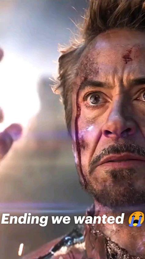 Ending we wanted 😭 #marvel #mcu #tonystark #ironman #avengers #endgame #rdj #robertdowneyjr