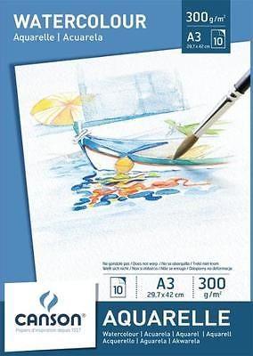 Canson Aquarellpapier Block Din A3 300 G Qm Weiss Malpapier