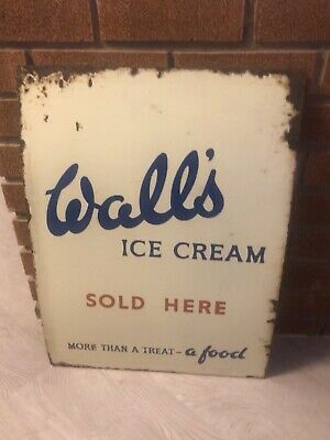 Ebay Walls Ice Cream Rare Enamel Sign Man Cave Cafe Walls Ice