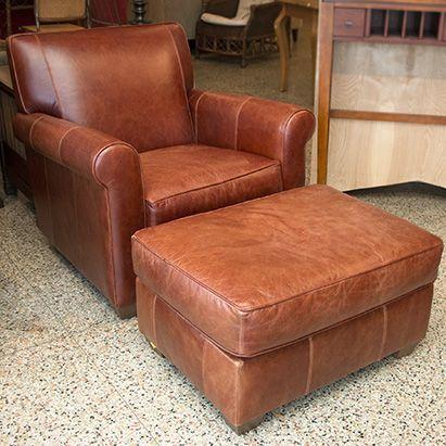 Bauhaus Brown Leather Chair With Ottoman Grandviewmercantile Designer Brands We Ve Got Em Pinterest Chairs