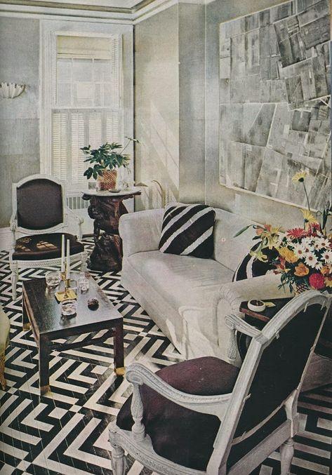 Albert Hadley's Manhattan living room