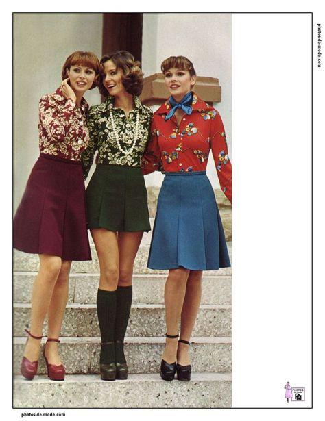 Retro Minirock 1974 70er Jahre Mode 70er Mode Outfit