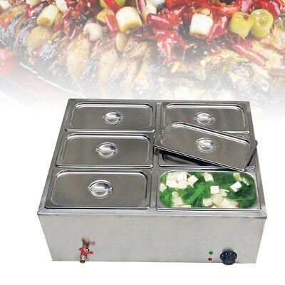 Ad Ebay 110v 850w 6 Pan Steamer Bain Marie Buffet Countertop