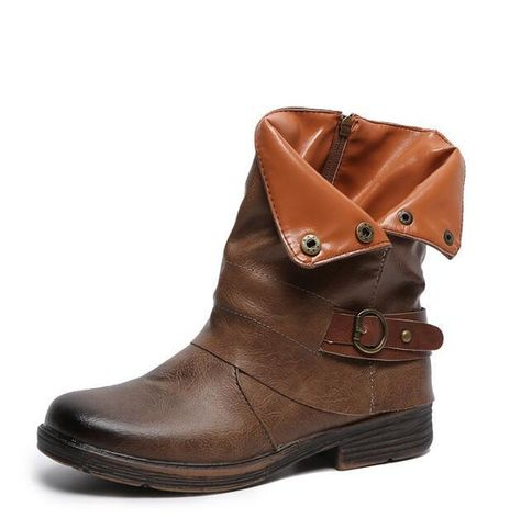 1867deb5e DaysCloth Women Ankle Boots Autumn Winter Shoes Woman Vintage PU Leather  Martin Boots