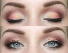 Peach eyeshadow makeup