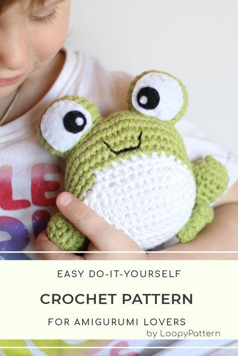 PATTERN crochet FROG pdf tutorial how crochet frog amigurumi