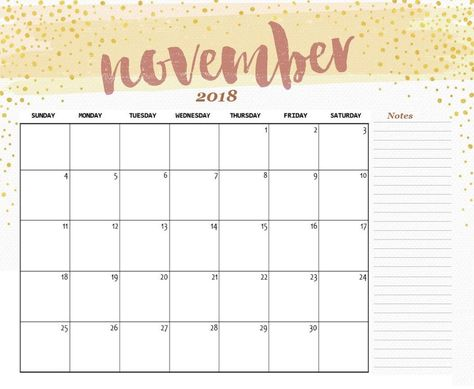 Free Printable Nov 2018 Calendar Nasionalis Within Printable