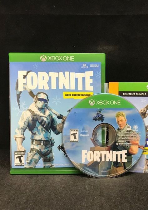 Fortnite Deep Freeze Bundle Xbox One Case And Disk Only Fortnite