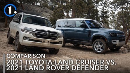 2021 Toyota Land Cruiser Vs 2021 Land Rover Defender Comparison Real Off Roading In 2021 Land Rover Defender Toyota Land Cruiser Land Rover