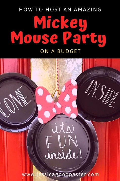 mickey mouse birthday party ideas How to Host an Amazing Mickey Mouse Party on a Budget Minnie Mouse Games, Mickey Mouse Birthday Decorations, Theme Mickey, Mickey 1st Birthdays, Mickey Mouse First Birthday, Mickey Mouse Clubhouse Birthday Party, Mickey Mouse Parties, Elmo Party, Elmo Birthday