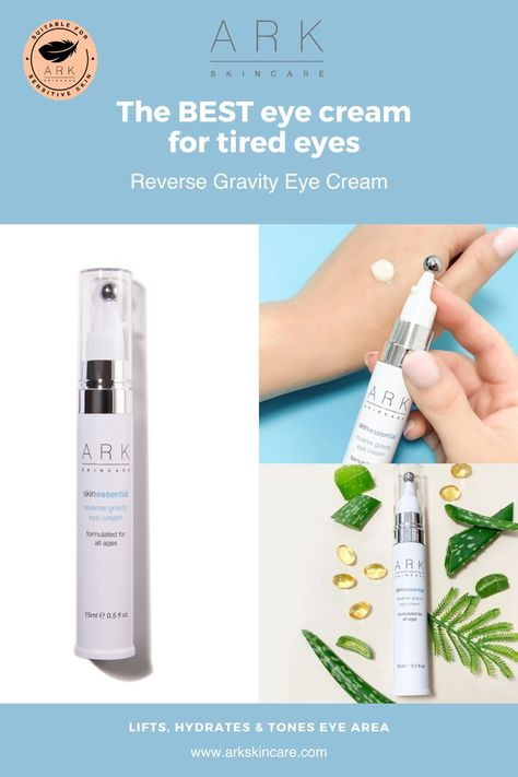 A gravity defying eye treatment to tighten and hydrate the eye area. This hydrating eye cream helps fade dark circles, reduce the appearance of wrinkles, soothe dry skin, and diminish puffiness. The innovative packaging includes a massage ball applicator to help smoothe the soothing eye cream into the delicate eye area. Shop today at www.arkskincare.com