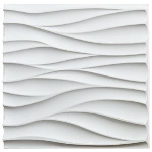 Art3dwallpanels 19 7 In X 19 7 In X 1 In Matt White Pvc 3d Wall Panels Decorative Paneling 12 Pack H100hd01 The Ho In 2020 3d Wall Panels Wall Panels Wall Design