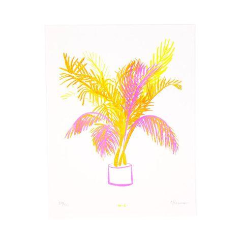 Miami Palm - Risograph Print - White
