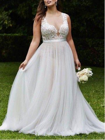 Beautiful Bride Wedding Dress A Line Plus Size Online Wedding Dress Scoop Wedding Dress Plus Wedding Dresses