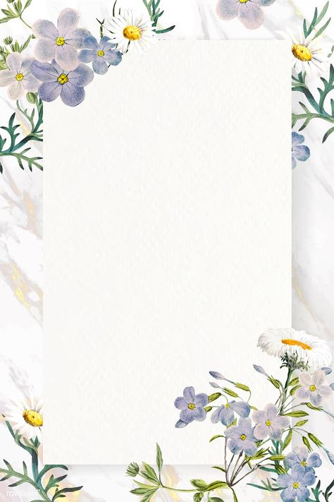 Blank floral rectangle frame vector | premium image by rawpixel.com / nunny