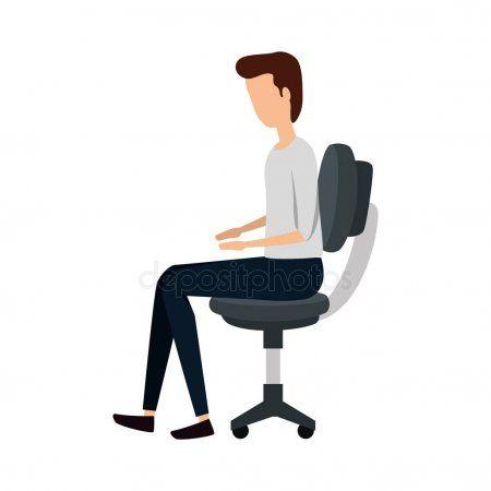 Elegant Businessman Worker Seated In Office Chair Stock Vector Sponsored Worker Seated Elegant Businessman Ad