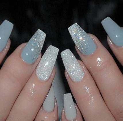 47+ ideas for nails acrylic blue christmas nails in 2020